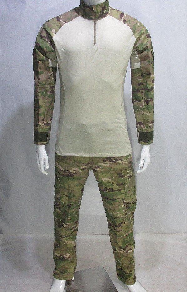 Calça e Combat t-shirt Multicam tradicional