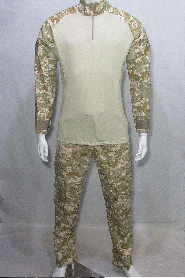 Calça e Combat t-shirt Cammo 05