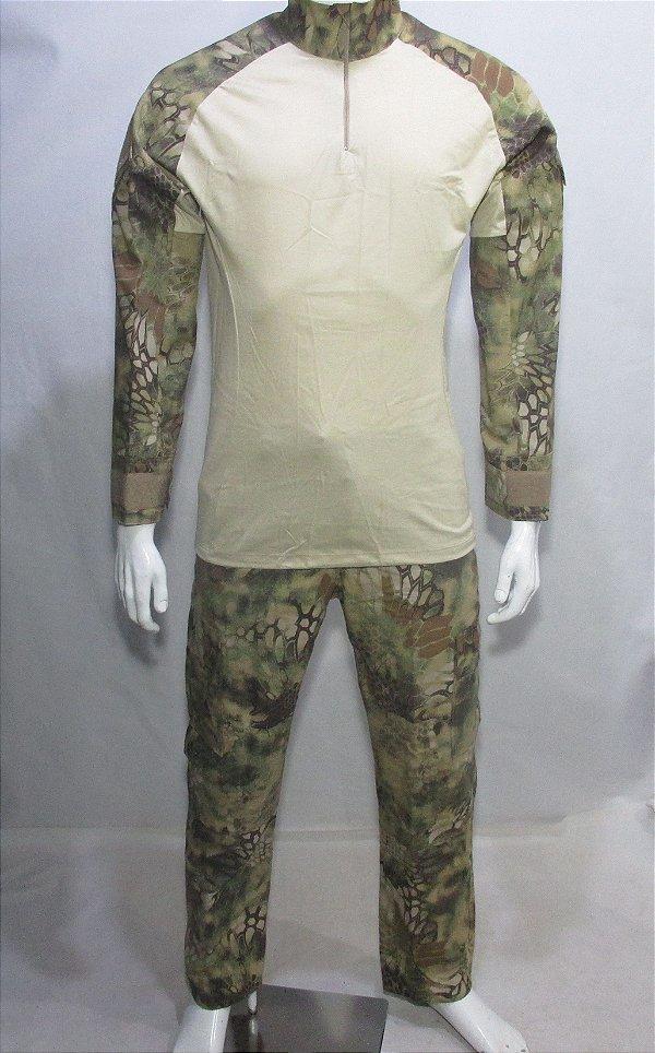 Calça e Combat t-shirt Mandrak