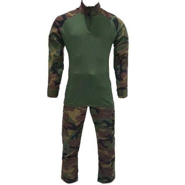 Farda Combat Shirt Woodland Tradicional