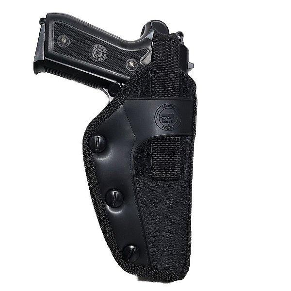 Coldre De Cintura Em Nylon Para Revolver E Pistola