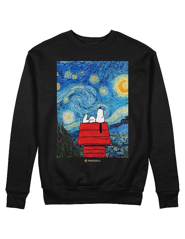 Moletom Snoopy Noite Estrelada
