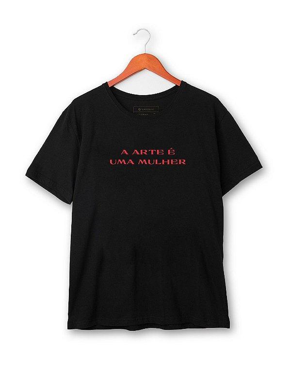 Camiseta A arte é uma mulher