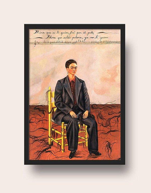 Quadro Frida Kahlo Autorretrato Con Pelo Cortado