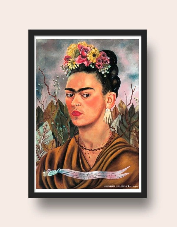 Quadro Frida Kahlo Autorretrato 1940
