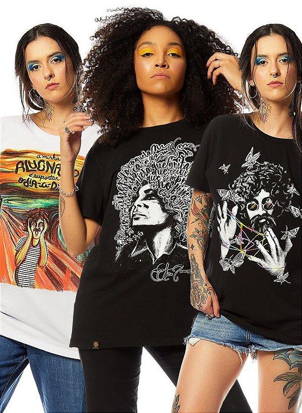 Kit 3 Camisetas de Música