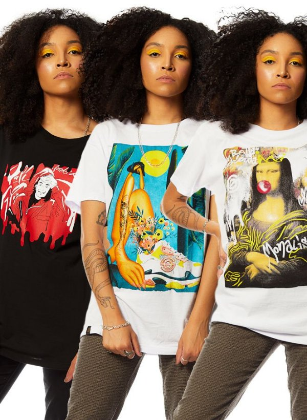 Kit 3 Camisetas de Arte