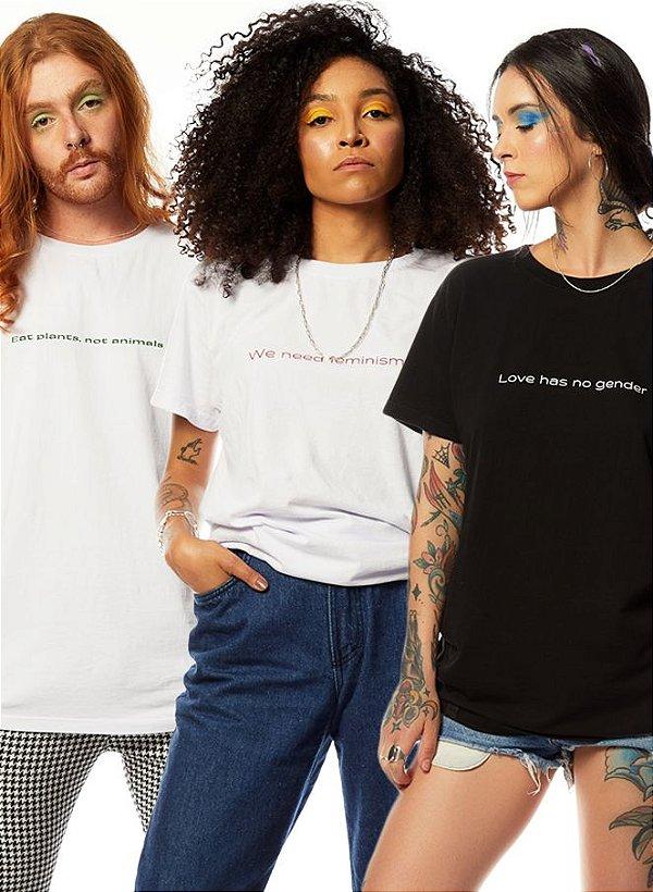 Kit 3 Camisetas Minimalistas