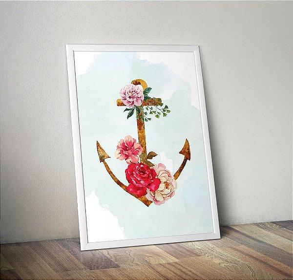 Pôster Âncora Floral