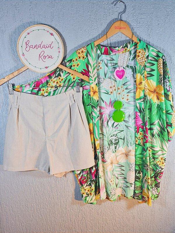 Kimono abacaxi verde