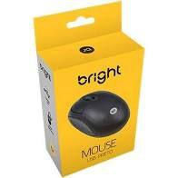 MOUSE USB PRETO BRIGHT