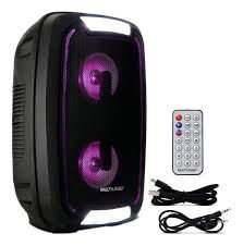 CAIXA DE SOM PARTY SPEAKER NEON DOUBLE MULTILAZER  SP336
