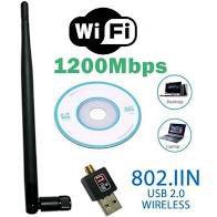 ADAPTADOR USB Wifi COM ANTENA LONGA 1200Mbps