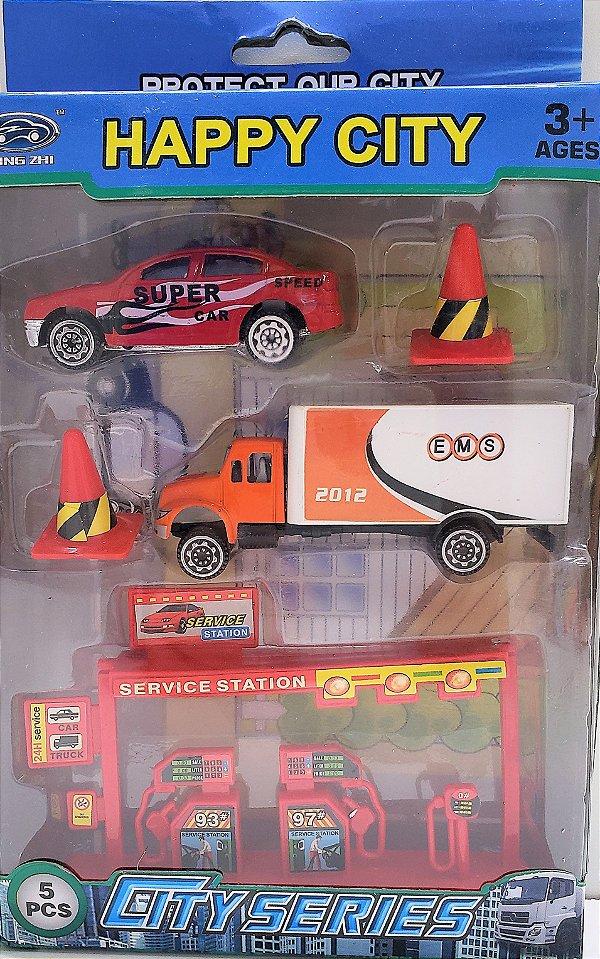 Carro com Posto de Gasolina  KY-481