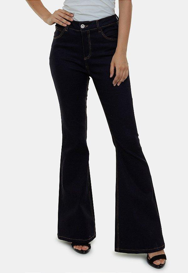 Calça Jeans Flare Azul Espanha