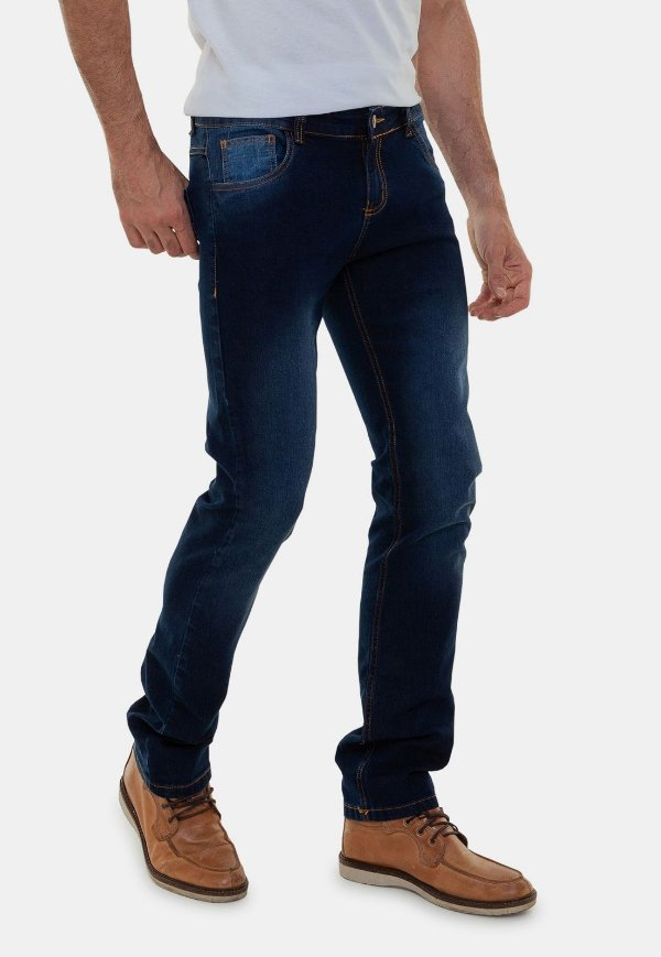 Calça Jeans Masculina Versatti Slim Tradicional Porto Azul Marinho