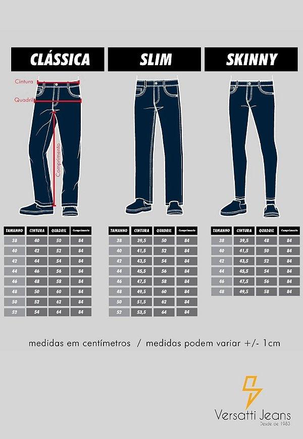 Calça Jeans Masculina Versatti Reta Azul Beirute A20