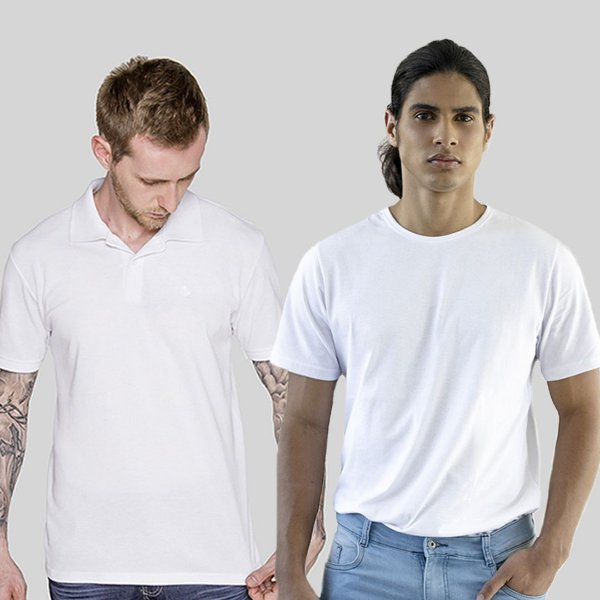 Kit Polo e Camiseta Branca Versatti Guatemala A20
