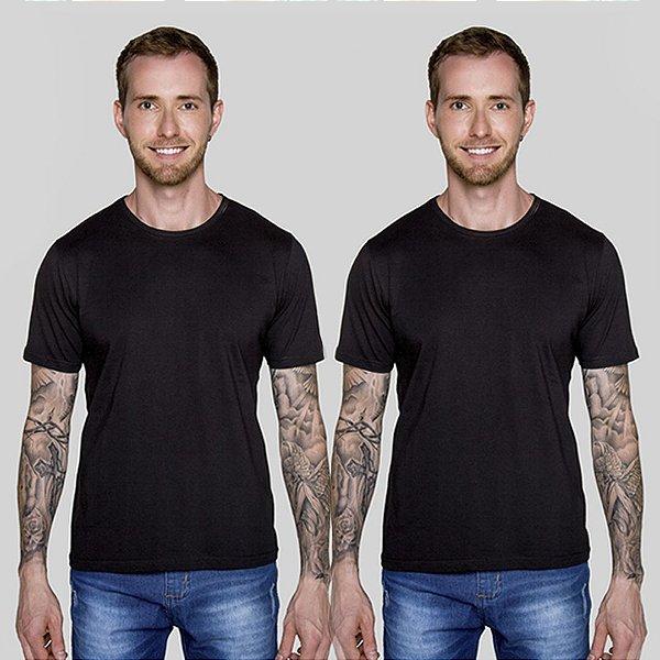 Kit 2 Camisetas Preta Basica Versatti A20