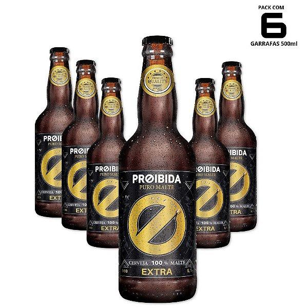 Cerveja Proibida Puro Malte Extra 500ml - Pack com 6