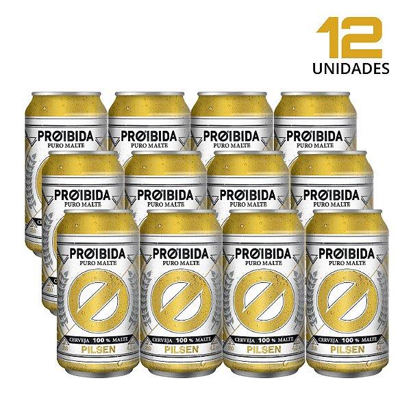 Cerveja Proibida Puro Malte 350ml - Pack com 12