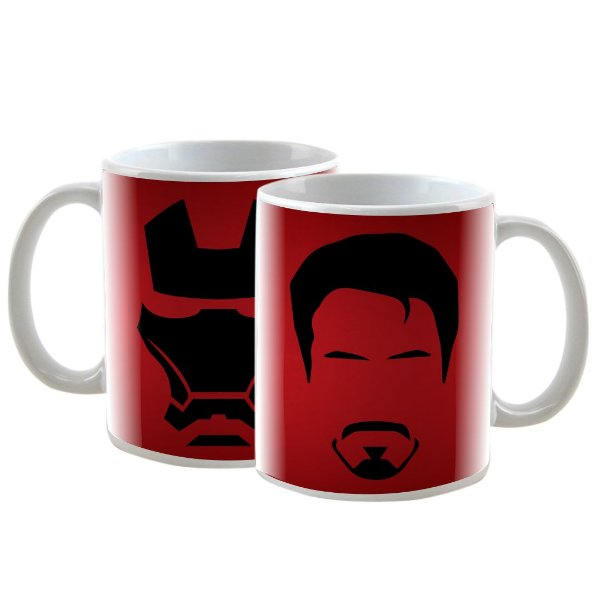 Caneca Personalizada Marvel Iron Man Vermelha 325mL
