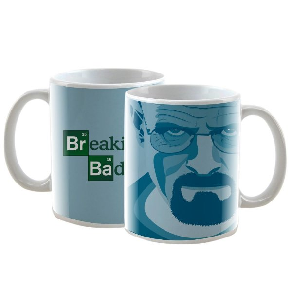 Caneca Personalizada Breaking Bad Azul 325mL