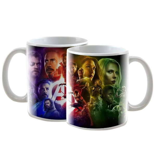 Caneca Personalizada The Avengers (Os Vingadores) Endgame 325mL