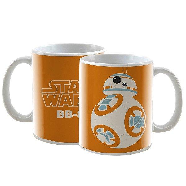 Caneca Personalizada Star Wars BB-8 Laranja 325mL