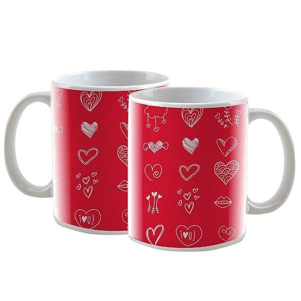 Caneca Personalizada Vermelha Heart 325mL
