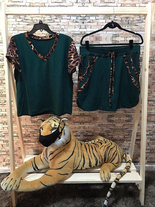 Conjunto Saia Thais Verde