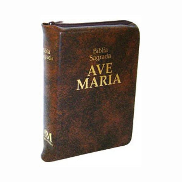 Bíblia Zíper Média Marrom