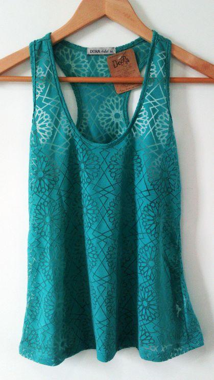 Blusa camiseta regata nadadora verde devorê