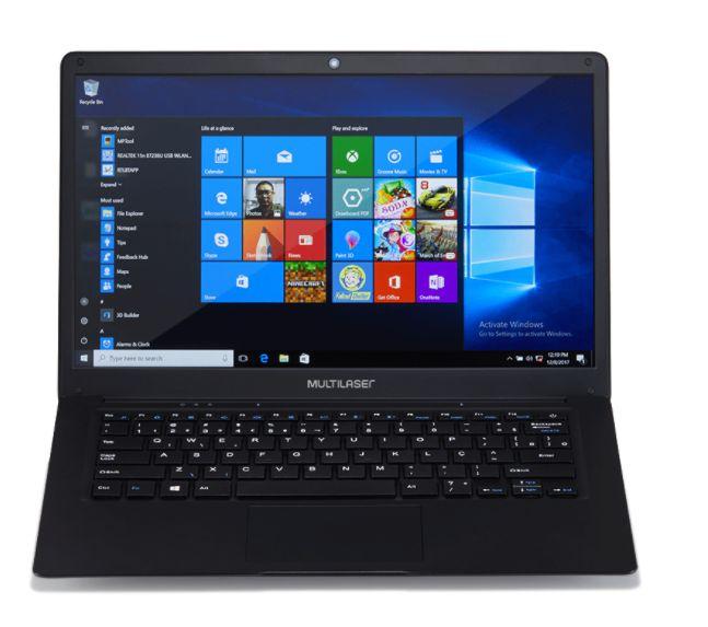 Notebook Multilaser Legacy Atom x5- Z8350 - 4GB DDR3 - HD Embutido 30GB  - Revenda + 5% Desc.