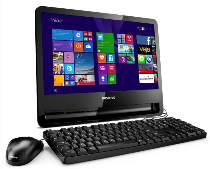 All in One Positivo C1000 - Intel Celeron - 02GB DDR3 - HD80/160 - LED18,5' - HDMI / Revenda 5% Desc