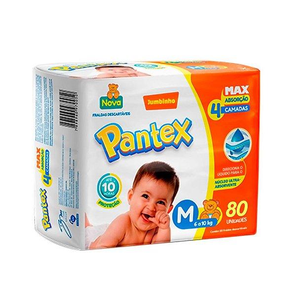 Fralda Infantil Pantex Hiper M 80 unidades
