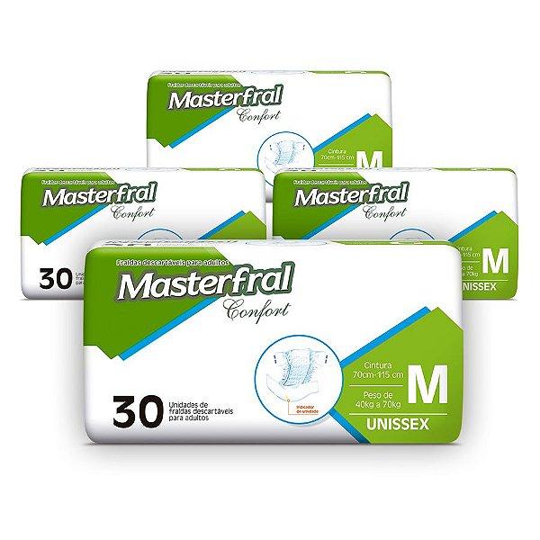 Fralda Geriátrica Masterfral Confort Mega M (Kit com 120 unidades)