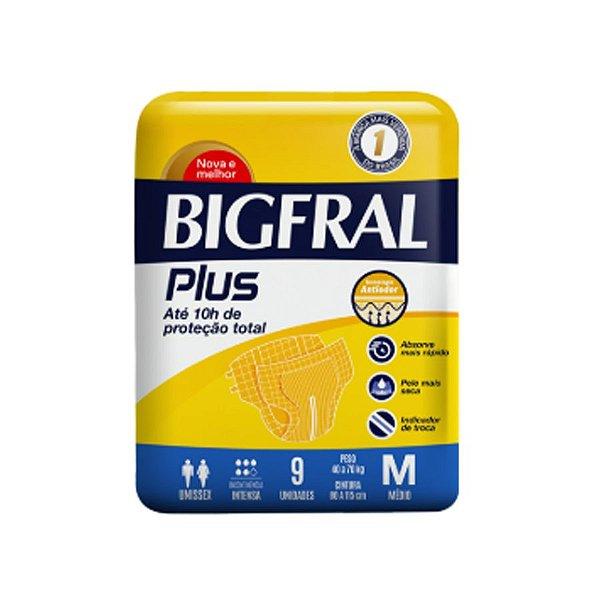 Fralda Geriátrica Bigfral Plus M 9 Unidades