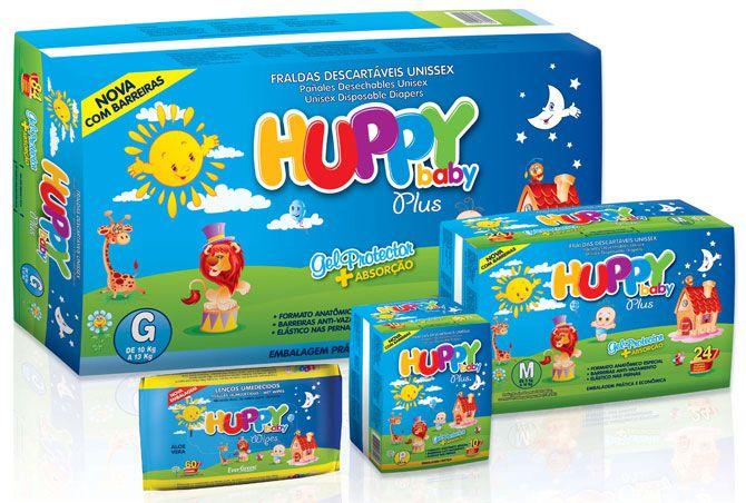 Fralda Infantil Huppy Baby Mega M 90 unidades (Pacote Econômico)