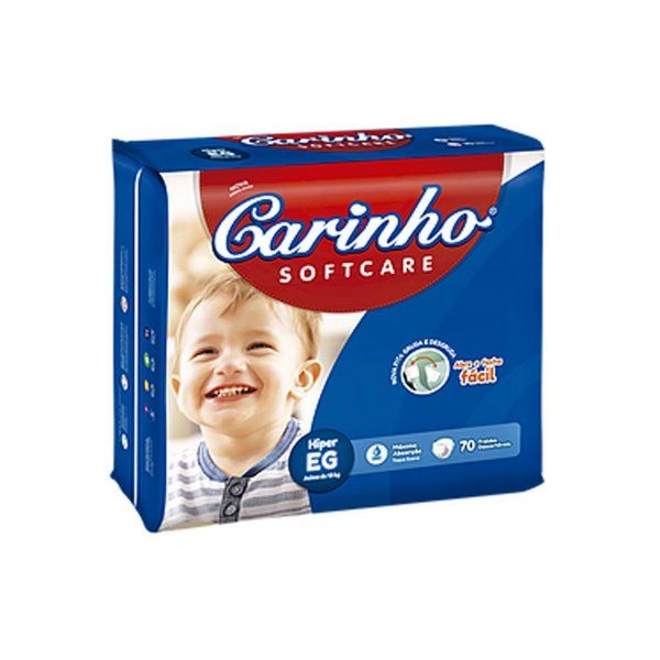 Fralda Infantil Carinho Premium Hiper EG 70 unidades