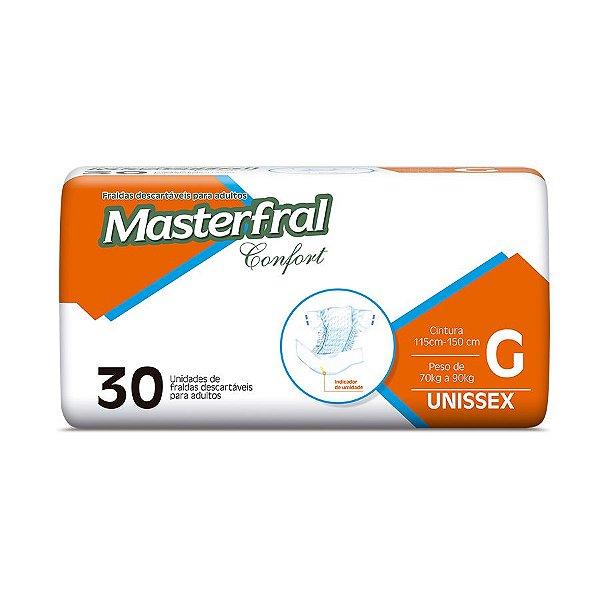Fralda Geriátrica Masterfral Confort Mega G 30 Unidades