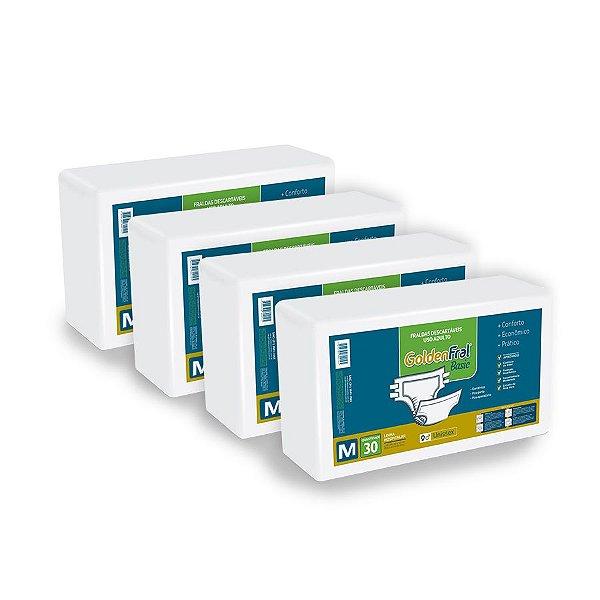 Fralda Geriátrica Goldenfral Basic M (Kit com 120 unidades)
