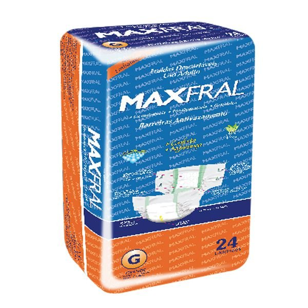 Fralda Geriátrica Maxfral Mega G 24 unidades