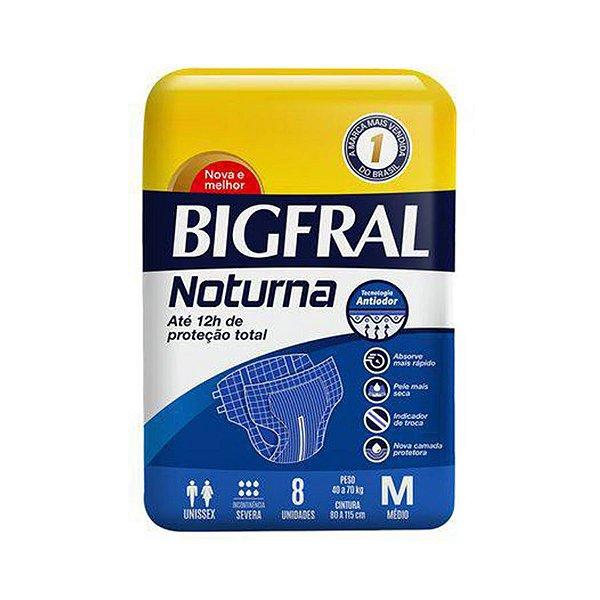 Fralda Geriátrica Bigfral Noturna M 8 Unidades