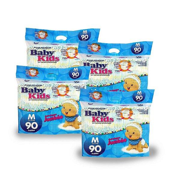 Fralda Infantil Baby Kids Jumbão M (Kit com 360 unidades)