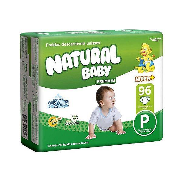 Fralda Infantil Natural Baby Premium Hiper P 96 Unidades