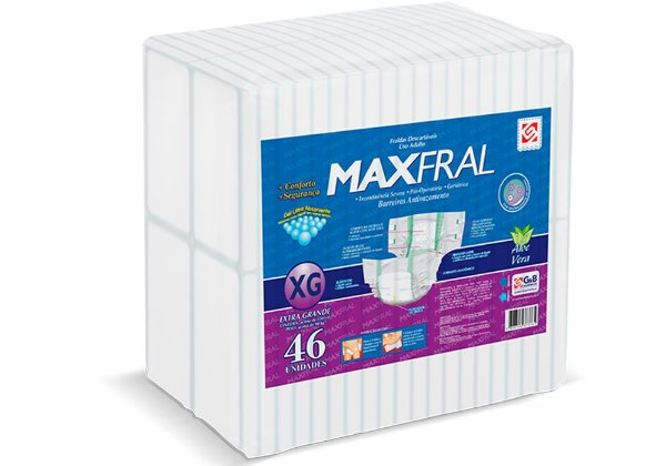 Fralda Geriátrica Maxfral Super XG 46 Unidades