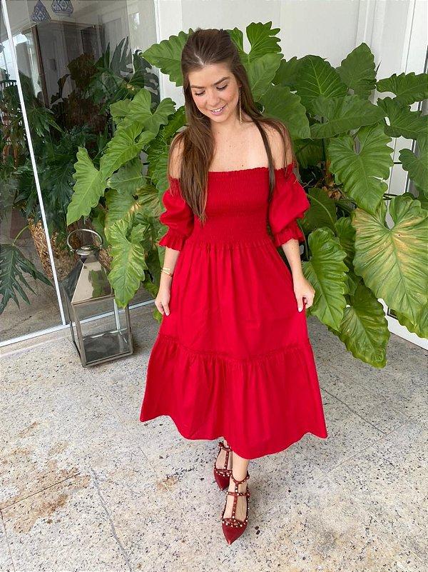 Vestido Amelie Vermelho