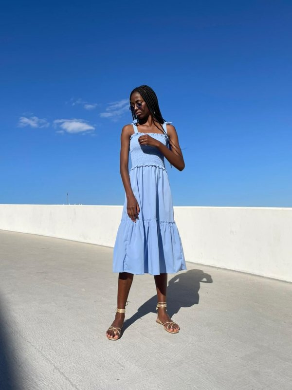 Vestido Valentina Azul Claro