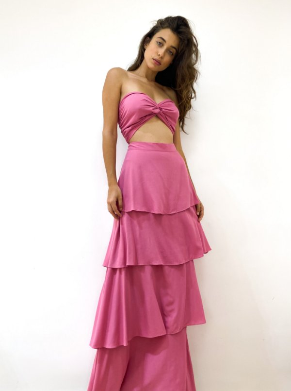 Vestido Silvia Rosa